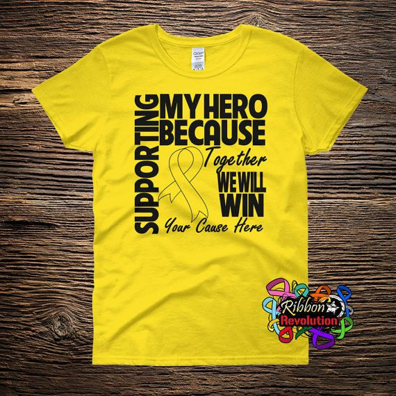 Supporting My Hero Shirts (Adenosarcoma, Endometriosis, Ewings Sarcoma, Osteosarcoma, Sarcoma)