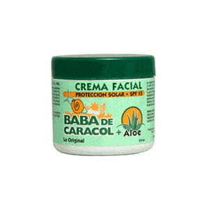 Baba De Caracol Original Snail Facial Cream + Aloe SPF15 3.5 oz