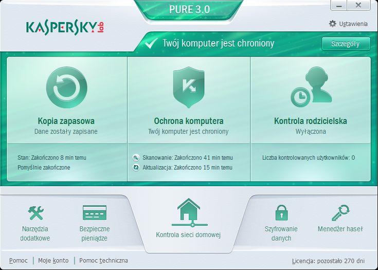 Kaspersky PURE 3.0 w pigułce. Recenzja po trzech miesiącach używania - http://di.com.pl/news/48620,0,Kaspersky_PURE_w_pigulce_Recenzja_po_trzech_miesiacach_uzywania-Anna_Wasilewska-Spioch.html