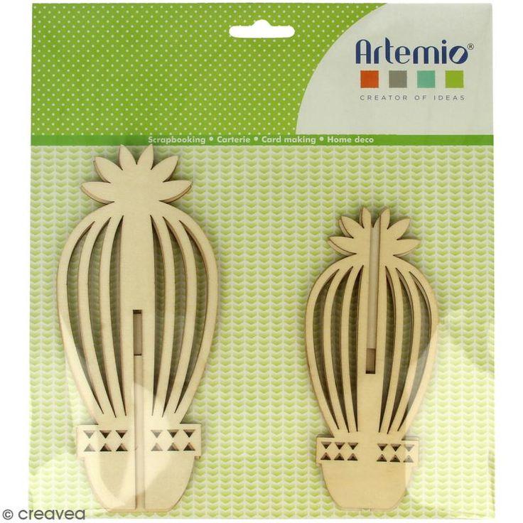 Compra nuestros productos a precios mini Figuras 3D de madera para montar y decorar - Cactus - 2 uds - Entrega rápida, gratuita a partir de 89 € !