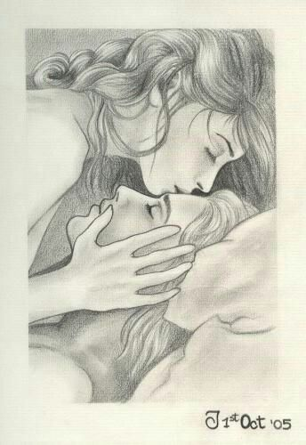 #couple #kiss #bed