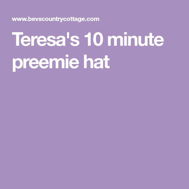 Teresa's 10 minute preemie hat