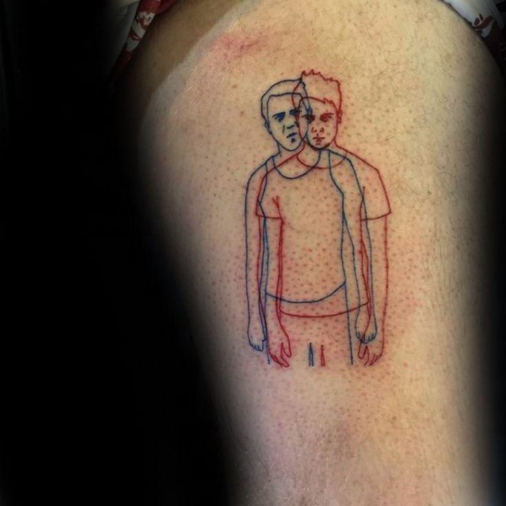 70 fight club tattoos for men masculine design ideas next for Tattoo art club
