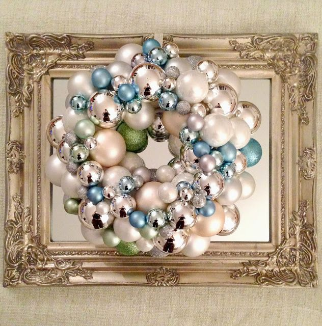 21 best ideas about ball wreaths on pinterest candy for Christmas decorations to make yourself