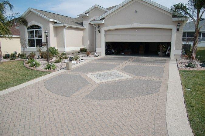 Decorative Concrete Driveway Stencil Template Concrete