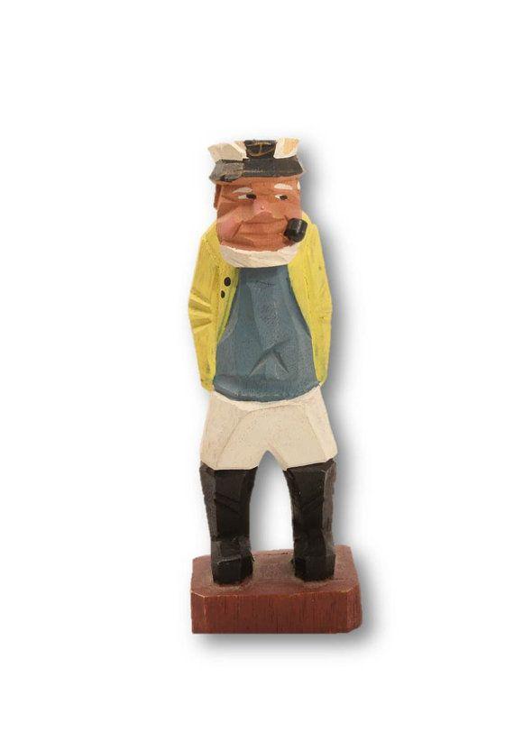 50% OFF SALE:  Folk Art,  Folk Art Sailor, Wood Sailor, Wood Sculpture, Primitive Folk Art, Clearance by clockworkrummage. Explore more products on http://clockworkrummage.etsy.com
