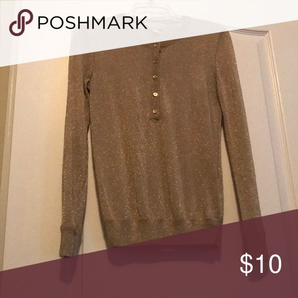 Michael Kors blouse Gold sparkle blouse Michael Kors Tops Blouses