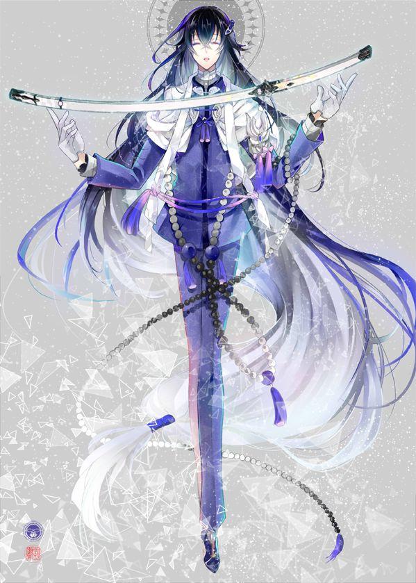 【刀剣乱舞】数珠丸恒次の美しいイラスト【とある審神者】 : とうらぶ速報~刀剣乱舞まとめブログ~