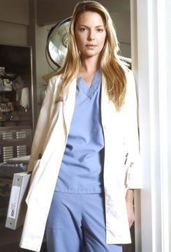"""Katherine Heigl played """"Dr. Isobel 'Izzie' Stevens"""" on """"Grey's Anatomy""""."""