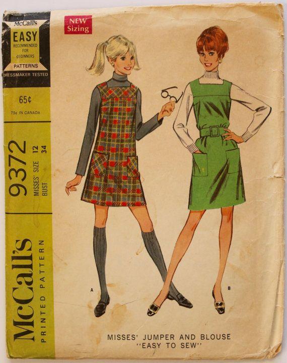 Shift Dress Pattern 1960s Jumper/Shift Dress by PaperDollPatterns
