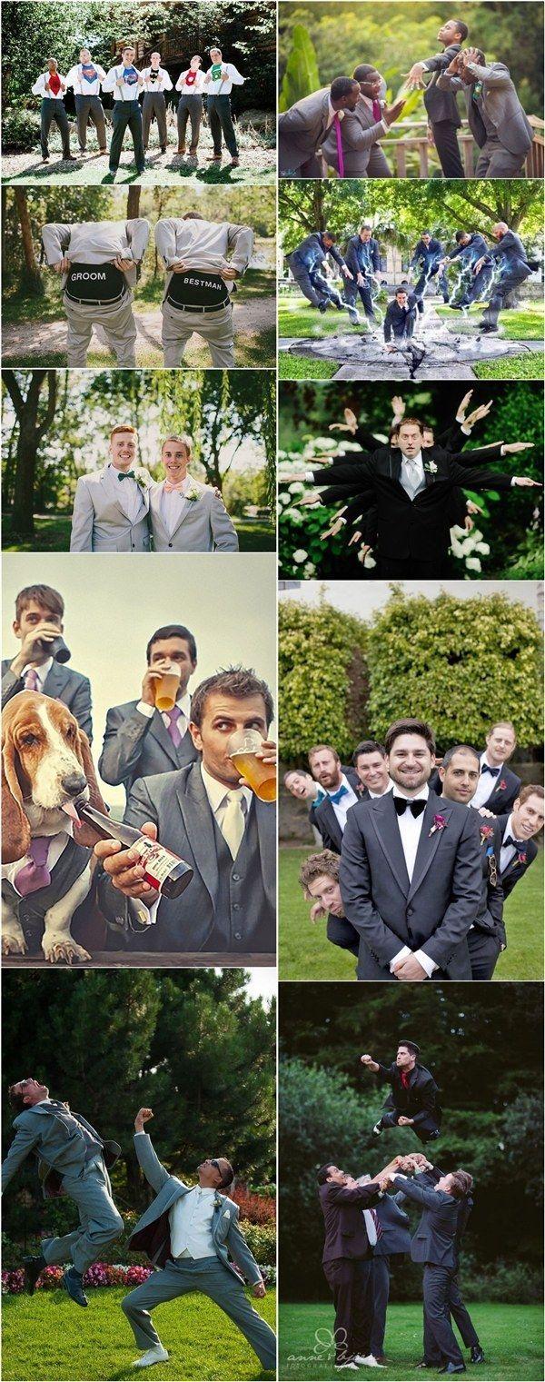 Funny groomsmen wedding photo ideas - Pose photo mariage ...