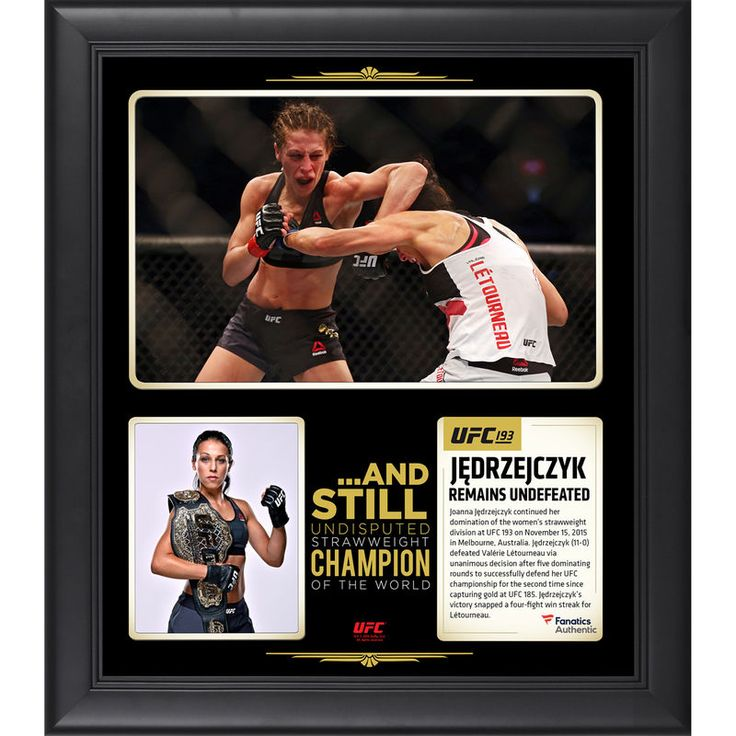 Joanna Jedrzejczyk Ultimate Fighting Championship Fanatics Authentic Framed 15'' x 17'' UFC 193 And Still Women's Strawweight Champion Collage