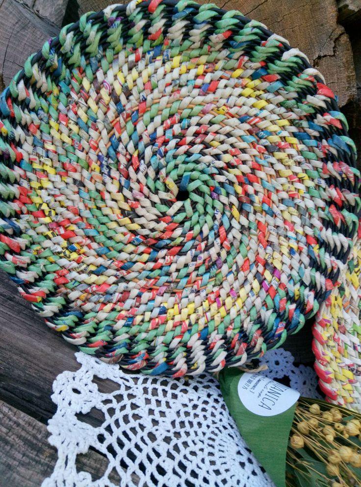 Имитация плетения из корня.