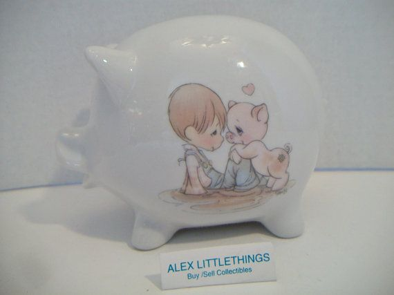 Hey, I found this really awesome Etsy listing at https://www.etsy.com/listing/263510971/vintage-precious-moments-piggy-bank-1985
