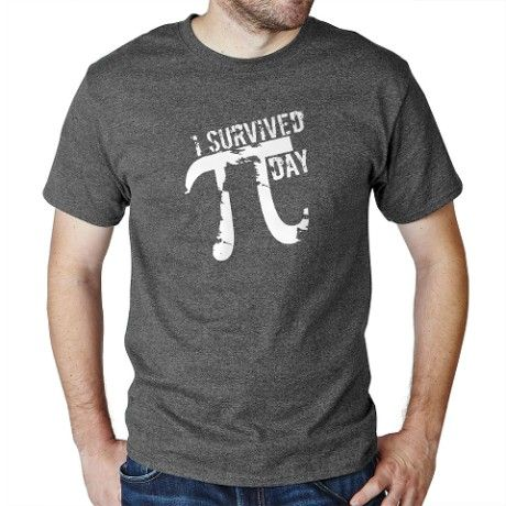 Funny Pi Tee ~ Pi Day Slogan ~ I Survived Pi Day - for Pi Day Fans and Math Lovers. ~ Funny Pi Gift and Pi Day T-Shirt at CafePress