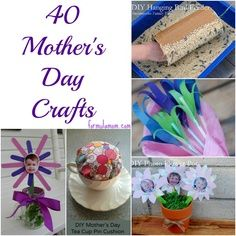 40 Mothers Day Crafts  I'm really excited about Mother's Day! I think I'm going to make the decorated flower pot and then make some flowers out of tissue paper to put in it for Mom.  Love Elle