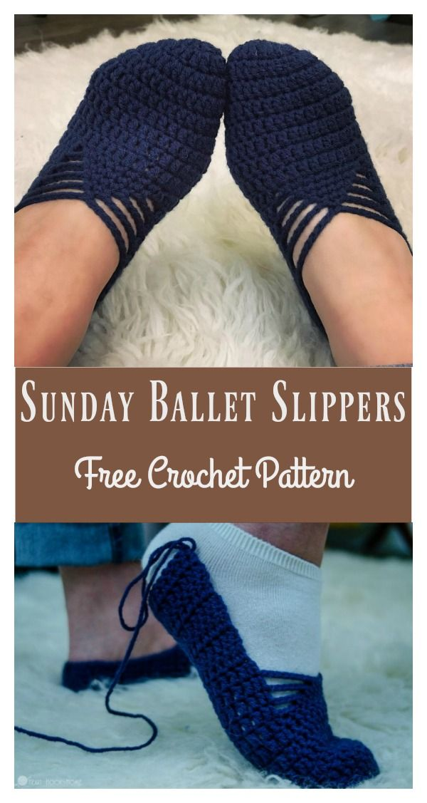c179ab270006 Sunday Ballet Slippers Free Crochet Pattern and Video Tutorial  slippers   crochet  freepattern