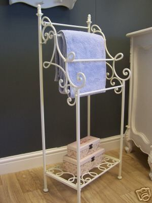 Cream Towel Stand