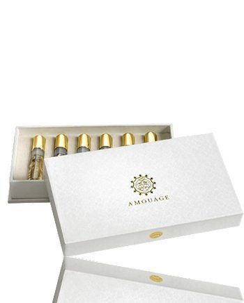 Amouage Sampler Box Woman by Amouage. $50.00. An elegant presentation box, containing 2ml spray samples. Each sample contains one of the current Amouage fragrances; Gold, Dia, Reflection, Jubilation 25, Epic and Lyric.Perfect for travelling and/or an introduction to the Amouage brand.Can be mixed to create your own personal smell.Founded over a quarter of a century ago, Amouage is a niche luxury fragrance house that draws inspiration from its birthplace of the Sultan...