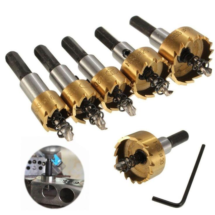 นำเสนอสินค้าดี<SP>5PCS HSS Drill Bit Hole Saw Tooth Set Stainless Steel Metal Alloy Cutter 16-30mm - intl++5PCS HSS Drill Bit Hole Saw Tooth Set Stainless Steel Metal Alloy Cutter 16-30mm - intl Material:H.S.S Outside Diameter:16mm/0.62',18mm/0.71',20mm/0.78',25mm/0.98',30mm/1.18' Length:65mm/2.55'(Approx) ...++