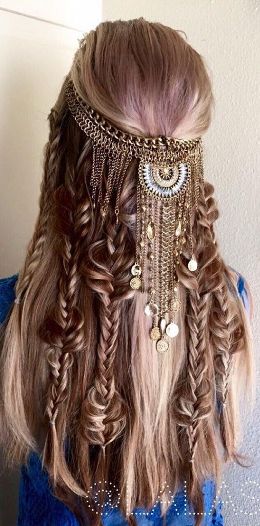 Astounding 1000 Ideas About Hippie Braids On Pinterest Round Brush Marcel Hairstyles For Women Draintrainus