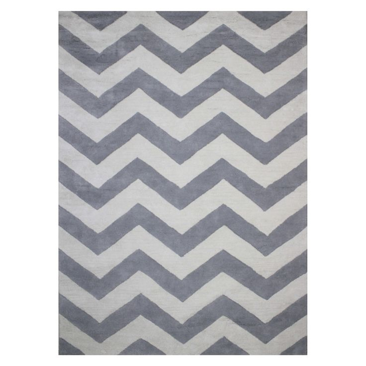 Circo� Chevron Area Rug-grey and white