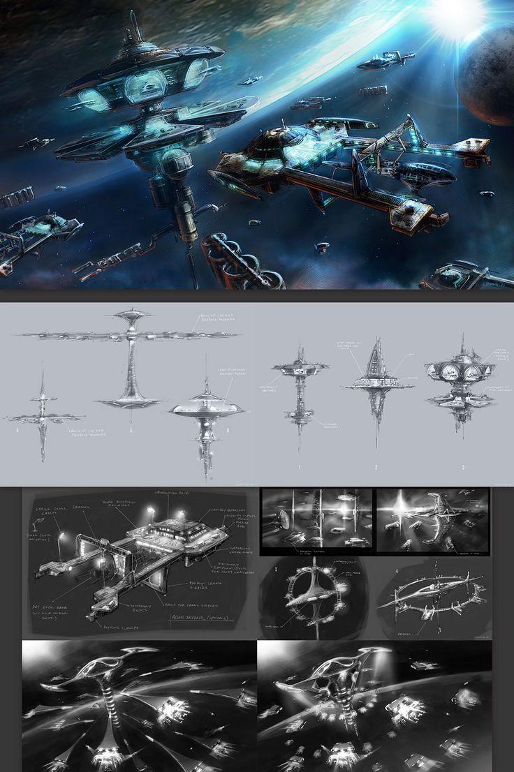 Trojan Shipyard Exploration Sketches