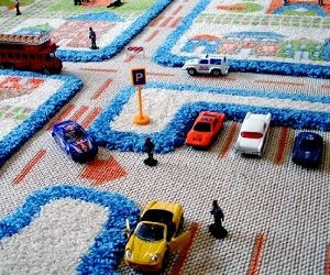 Superelaborate 3D Play Rug! #DIY With Carpet, Paint And Props.