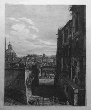 Veduta del Clivo Capitolino, ove passavano i Carri dei Trionfatori