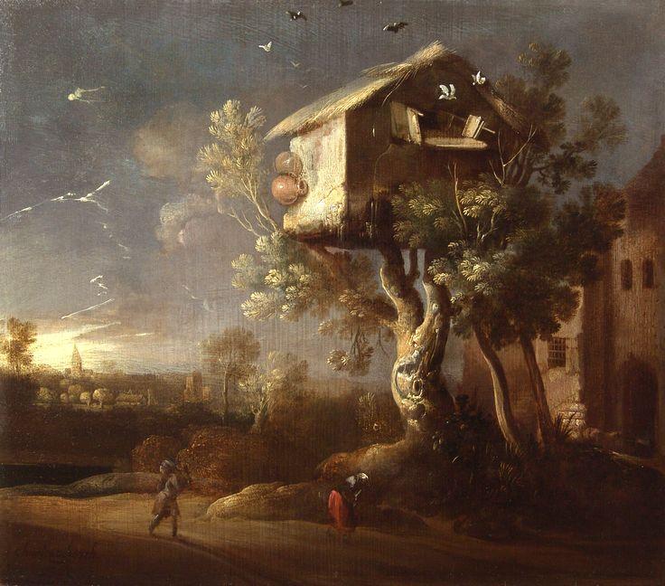 Charles de Hoogh - Duiventeel - na behandeling - Restauratieatelier Haarlem
