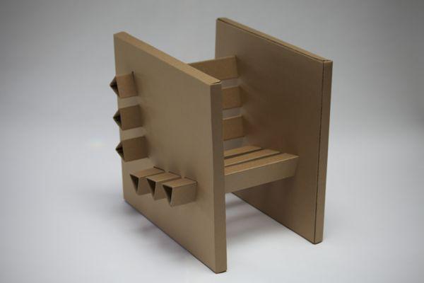 Best 25 cardboard chair ideas on pinterest cardboard furniture corrugated carton and - Diy cardboard furniture design ...