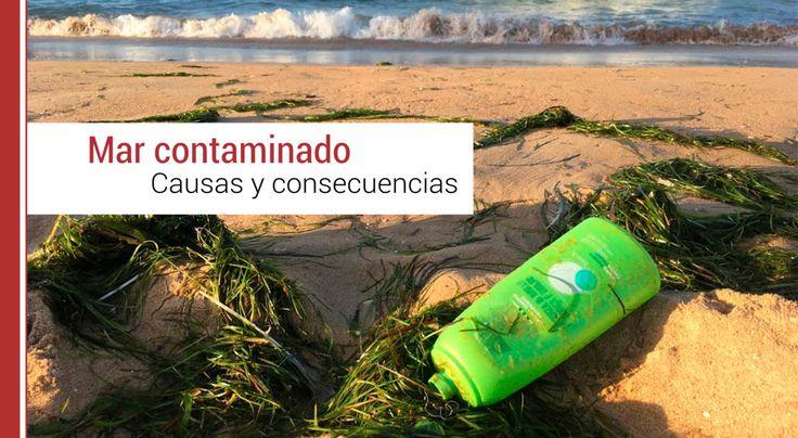 El volumen de personas que disfrutan de sus vacaciones en las playas y su comportamiento en ellas, ha ocasionado el aumento de la contaminación del mar.