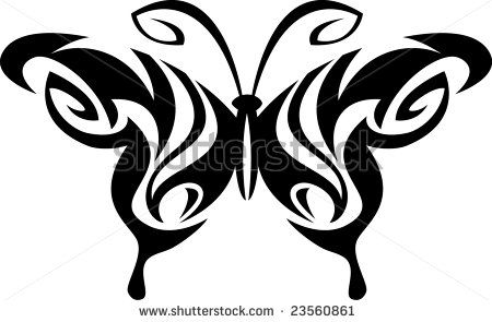 Tribal butterfly design - photo#15
