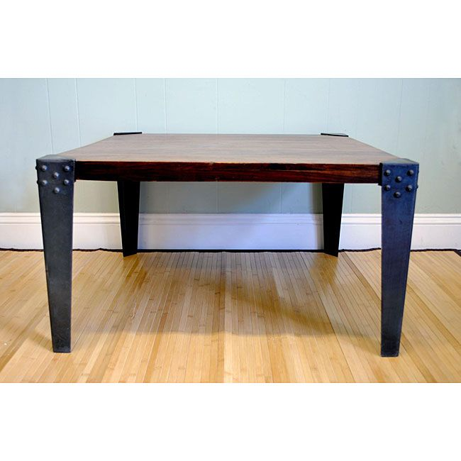 Complement your home d�cor with this stylish sheesham wood furniture. This mahogany-finished coffee table is accented with metal legs, providing a contemporary style. Fashionable as well as weather-resistant, this table will last for years to come.