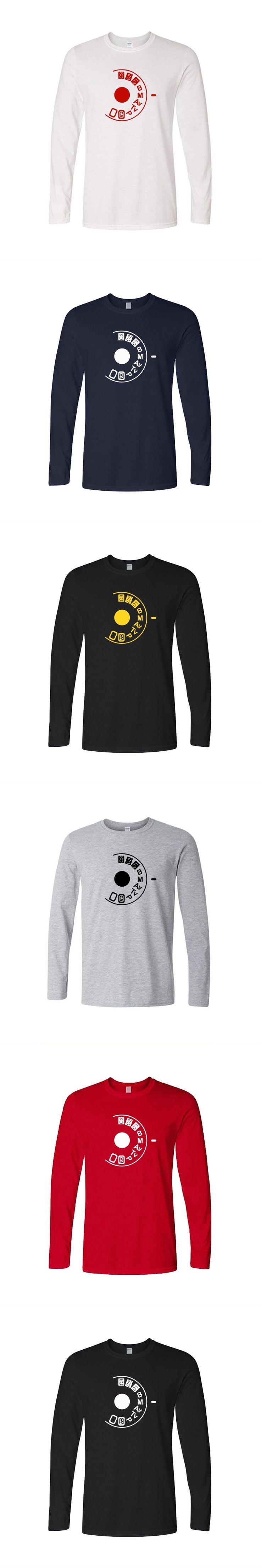 New Funny Shoot Manual Camera Buff Photography Lovers T-Shirts Mens O-Neck Cotton T Shirts Hip Hop Long Sleeve Tops Tees