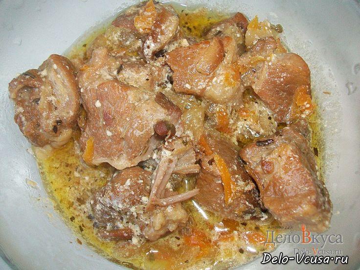 Тушеное мясо в сметане #свинина #мясо #еда #рецепты #деловкуса #готовимсделовкуса