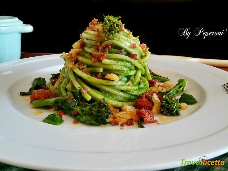 Spaghetto quadrato con salsiccia piccante e friarielli  #ricette #food #recipes