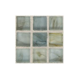 American Olean�Visionaire Whispering Stream Glass Mosaic Square Indoor/Outdoor Wall Tile (Common: 13-in x 13-in; Actual: 12.87-in x 12.87-in)