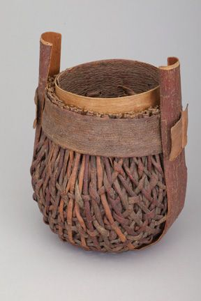"""""""Banded Pine Bark Basket"""" 1984 from 'Collection Focus: Dorothy Gill Barnes and David Ellsworth' at the Racine Art Museum #finecraftPine Bark, David Ellsworth, Art Museums, Gill Barns, Collection Focus, Bark Baskets, Racine Art, Band Pine, Dorothy Gill"""