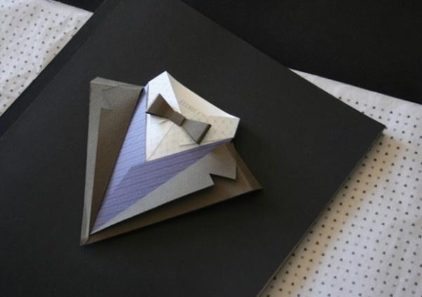 Origami Élégante ! Suit - Fedrigoni- by Jonathan Shackleton