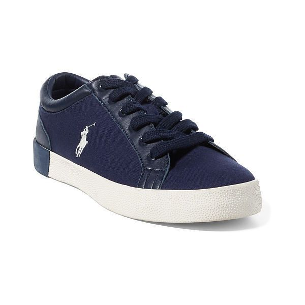 Polo Ralph Lauren Aldric Canvas Sneaker (88 830 LBP) ❤ liked on Polyvore featuring men's fashion, men's shoes, men's sneakers, mens lace up shoes, mens canvas sneakers, ralph lauren mens shoes, mens leather lace up shoes and polo ralph lauren mens sneakers