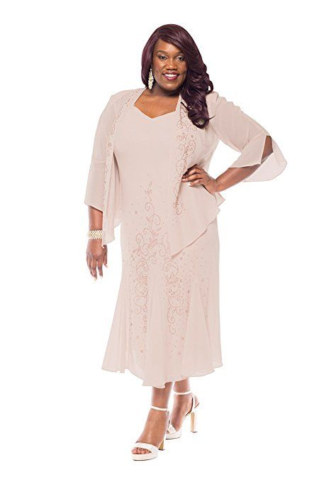596fb95d75a R M Richards Women s Plus Size Beaded Jacket Dress - Mother of the Bride  Dresses (14W