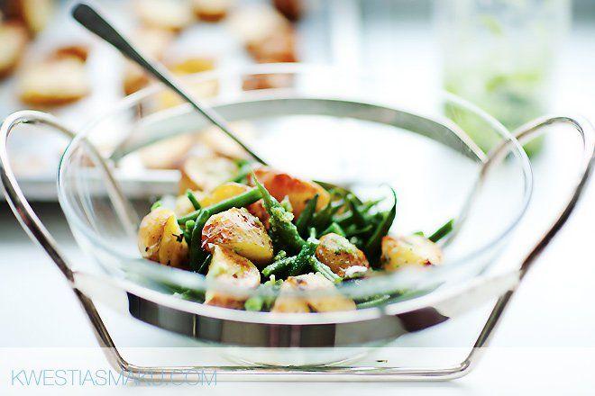 Fasolka z ziemniakami i zielonym pesto