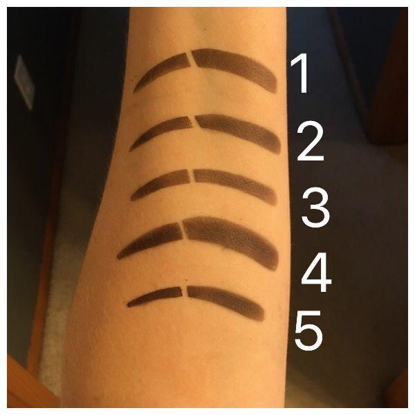 Younique brow stencil shapes