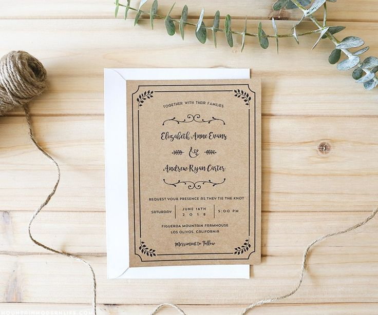 Более 25 лучших идей на тему «Free wedding invitation templates - free downloadable wedding invitation templates