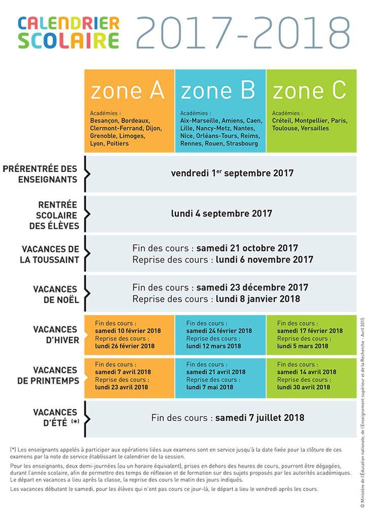 El Conde. fr: Le calendrier scolaire français