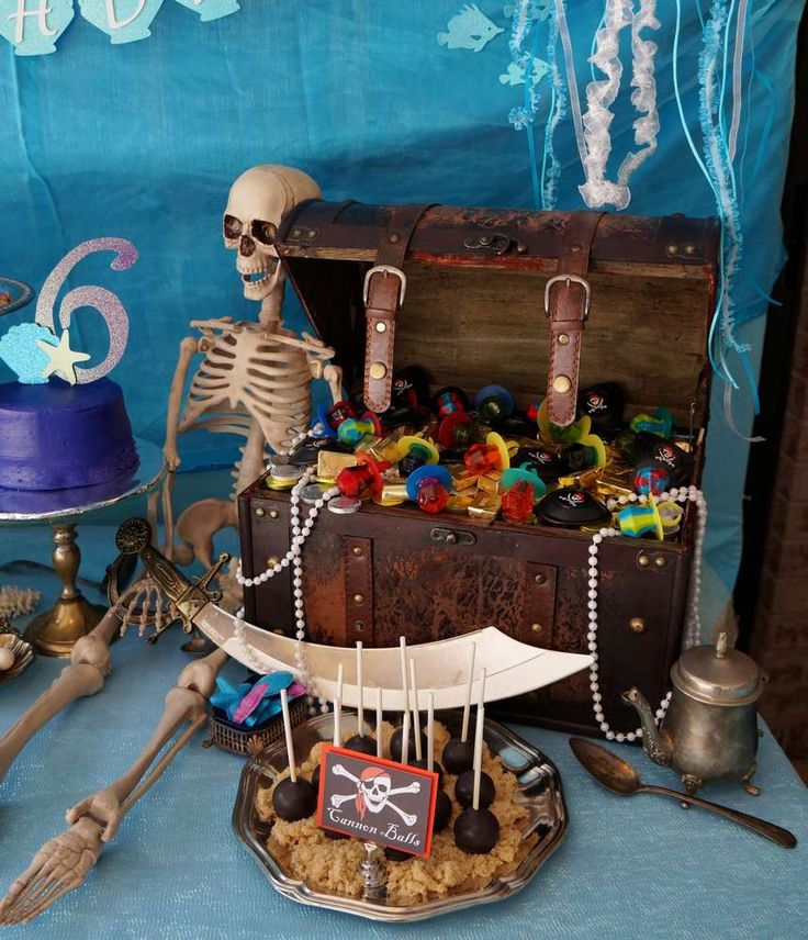 Pirates and Mermaids Birthday Party Ideas | Photo 1 of 43 | Catch My Party