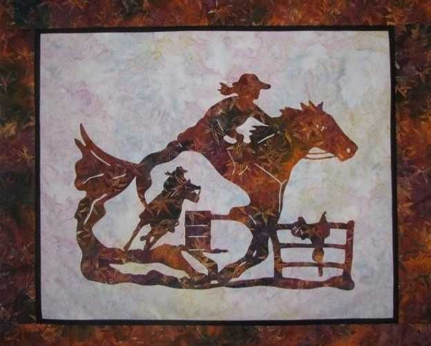 Quilting Horse Patterns : rodeo stencil patterns wallhanging pattern click on photo to enlarge accent pattern click on ...