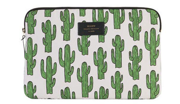 Une housse très nature Shopping : le cactus inspire la déco
