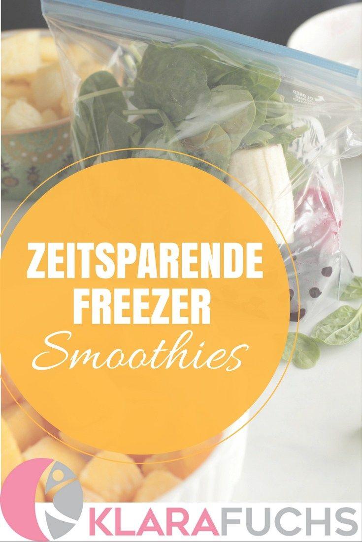 In Sekundenschnelle Smoothies herstellen und Zeit sparen. Wäre es nicht perfekt, länger schlafen zu können und dennoch den Tag später mit einem gesunden und leckeren Frühstück starten zu können? Für dieses Frühstück müsst ihr gerade mal 2 Minuten aufopfern und den Smoothie kann man anschließend auch mit zur Uni/Arbeit/Schule mitnehmen! Yej, für zeitsparende, gesunde Alternativen! www.klarafuchs.com #smoothie #healthy #breakfast #togo #freezer #fitness #nutrition #recipe